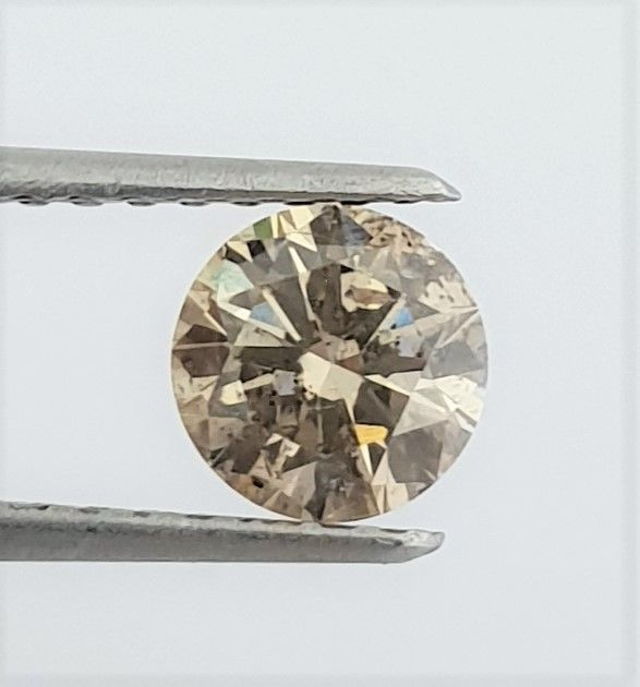 Diamant - 1.00 ct - Briljant - Natural Fancy Champagne - SI1