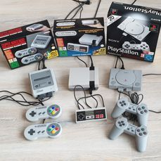 NES Mini, SNES Mini and PSX Classic - Konsol - I original æske