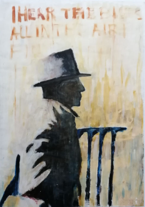 Willem Anthonie Oepts (1904-1988) - I hear the blues all in the air + Bluesgitarist