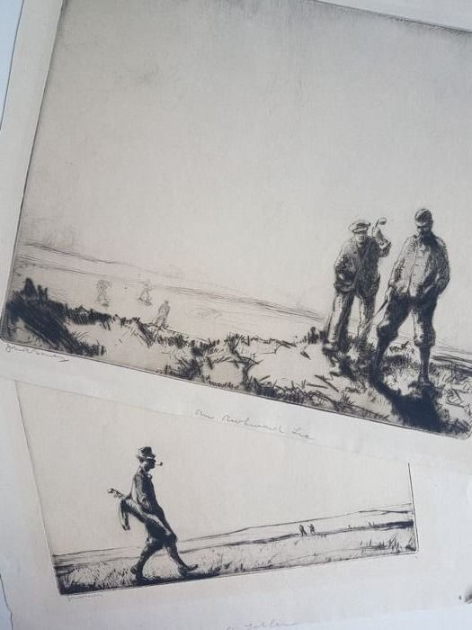 Julian Bailey ? - 2 x prints of Golfing scenes