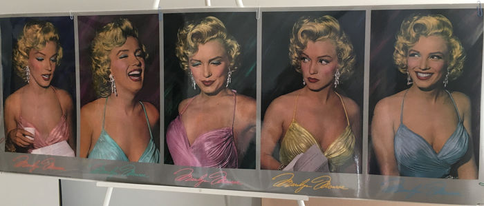 Phil Stern/colored by Del Greger - Five Times Marilyn