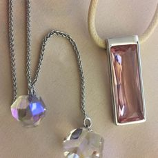 Swarovski  - Swarovski Necklaces - Rhodium plated, crystal