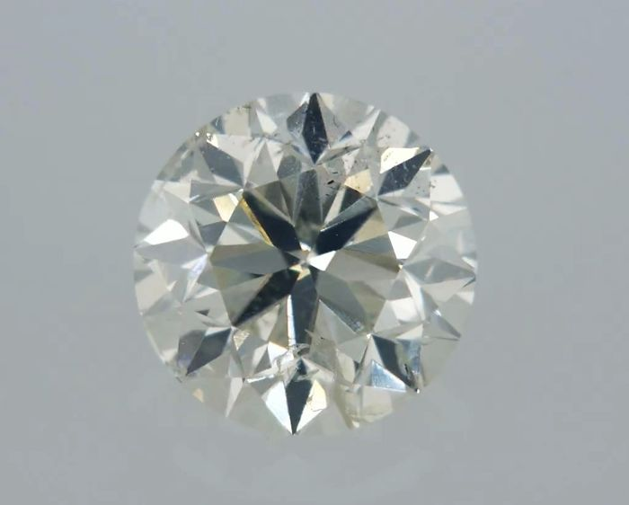 1 pcs Diamant - 0.80 ct - Rond - G - SI1