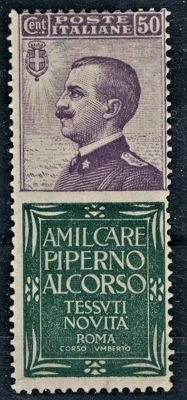 "Italie - ""Piperno"" advertising stamps"