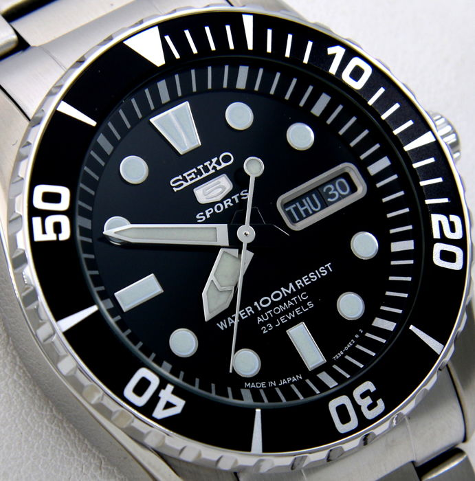 """Seiko - Automatic 23 Jewels Black Dial """"Made in Japan"""" - NO RESERVE PRICE - - Hombre - 2018"""