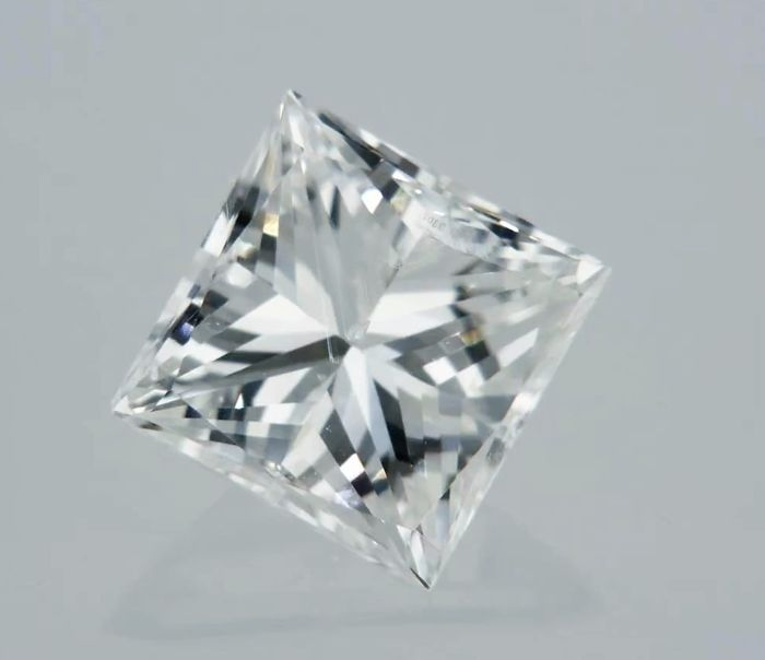 1 pcs Diamant - 0.71 ct - Prinses - D (kleurloos) - VS2