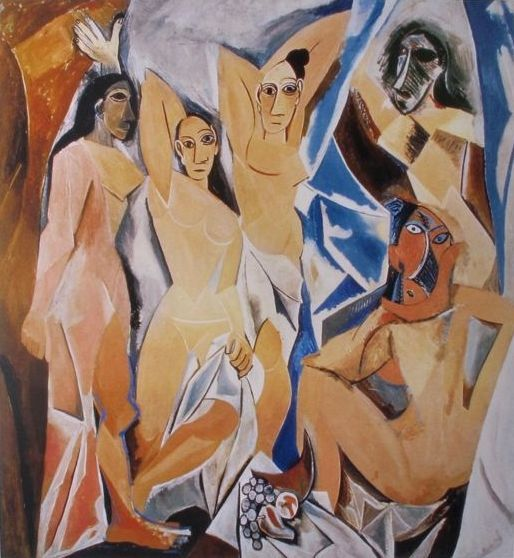 Pablo Picasso ( after ) - Woman of Avignon