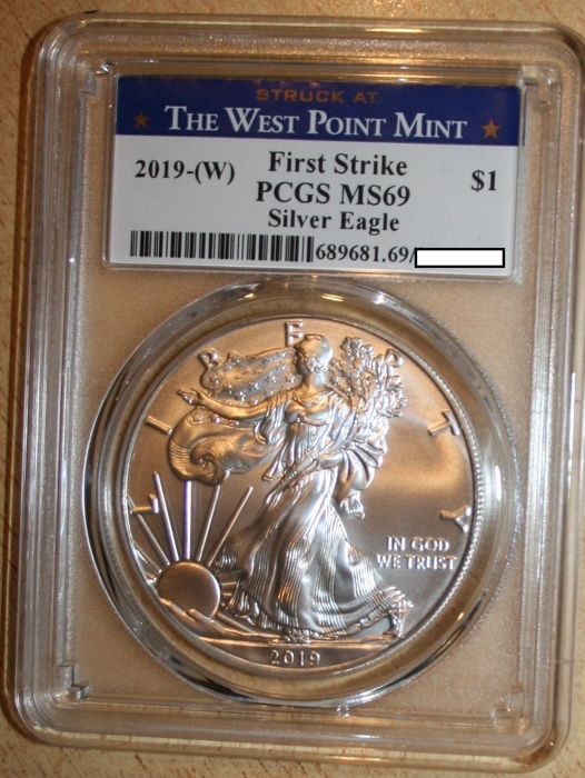 USA - 1 Dollar 2019 West Point - Silver Eagle - PCGS MS69 First Strike  - Silver