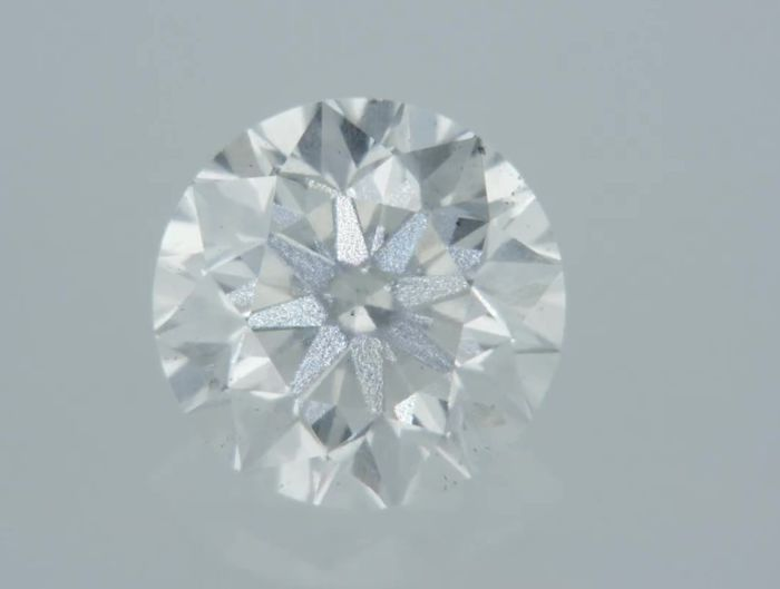 1 pcs Diamant - 0.58 ct - Rond - D (incolore) - VS2