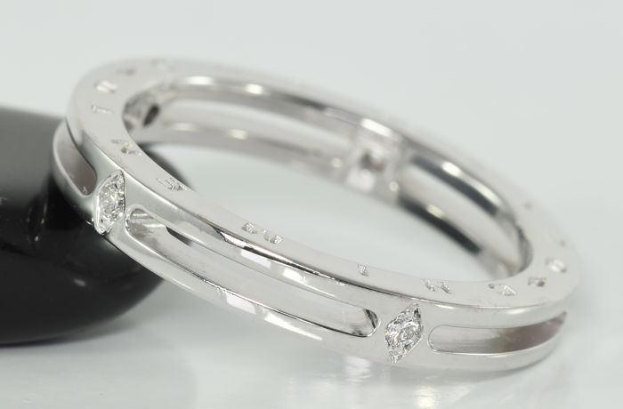 Chimento - 18 carats Or blanc - Bague - 0.08 ct Diamant