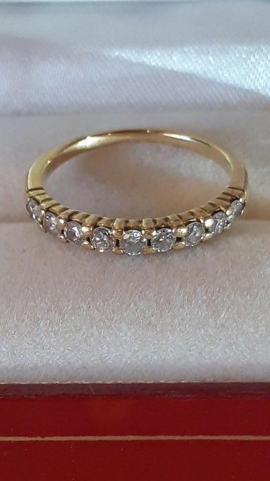 18 kt Gelbgold - Ring - 0.52 ct Diamant