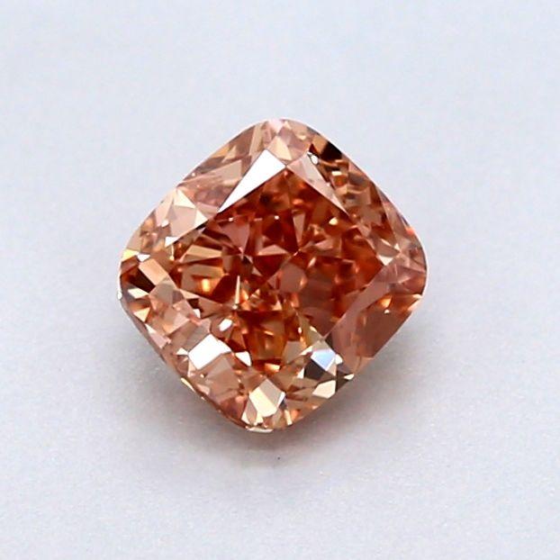 1 pcs Diamant - 0.32 ct - Cushion - fancy brown orange - VS2