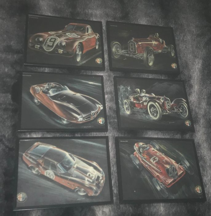 Decoratief object - estampes alfa Romeo par giorgio alisi - 2000 (6 items)