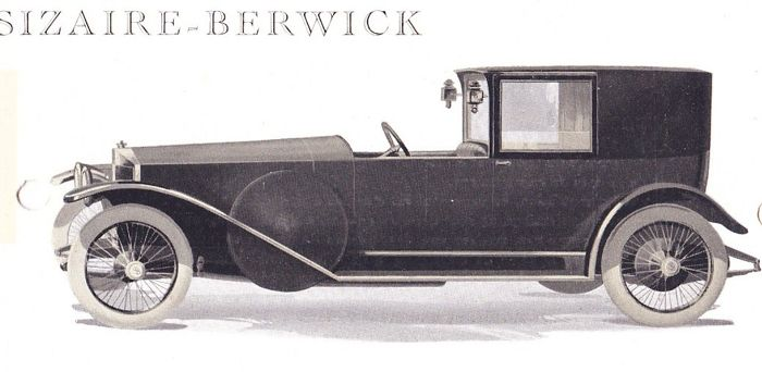 Brochures / Catalogi - Automobiles Sizaire-Berwick 25HP  - 1922 (1 items)