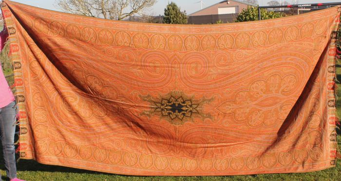 Large Kashmir Shawl - Wool - Second half 19th century