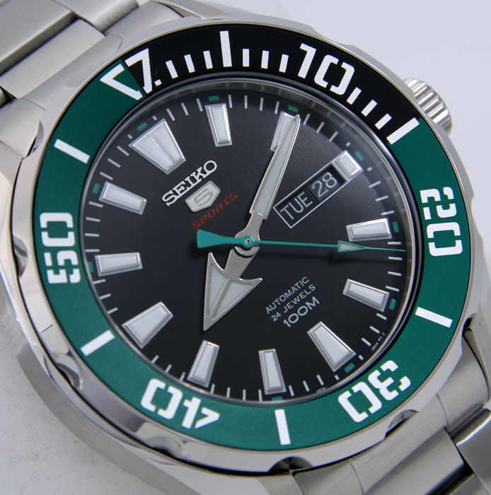 "Seiko -  Automatic 24 Jewels ""Green Tone"" - ""NO RESERVE PRICE"" - Men - 2018"