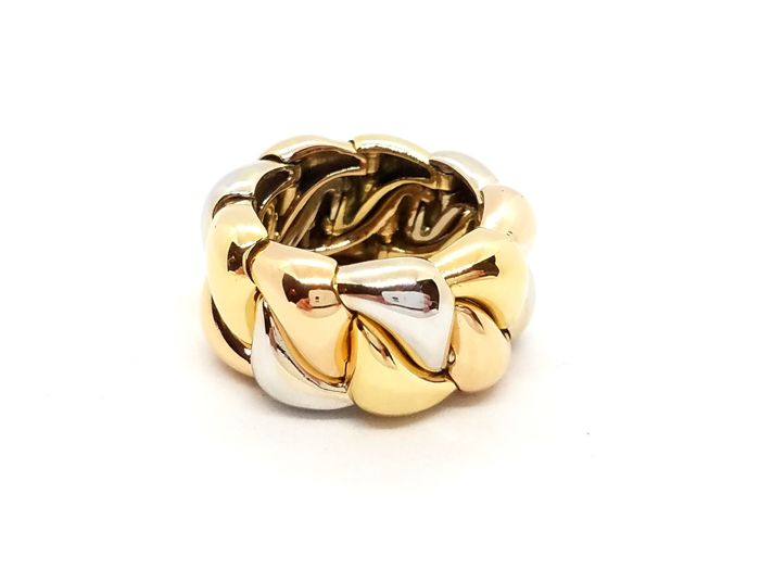 POIRAY - 18 carats Or blanc, Or jaune, Or rose, Tricolore - Bague
