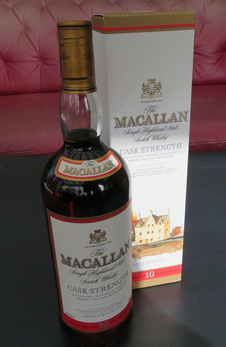 Macallan Cask Strength Sherry 10 years old - 1,0 Liter