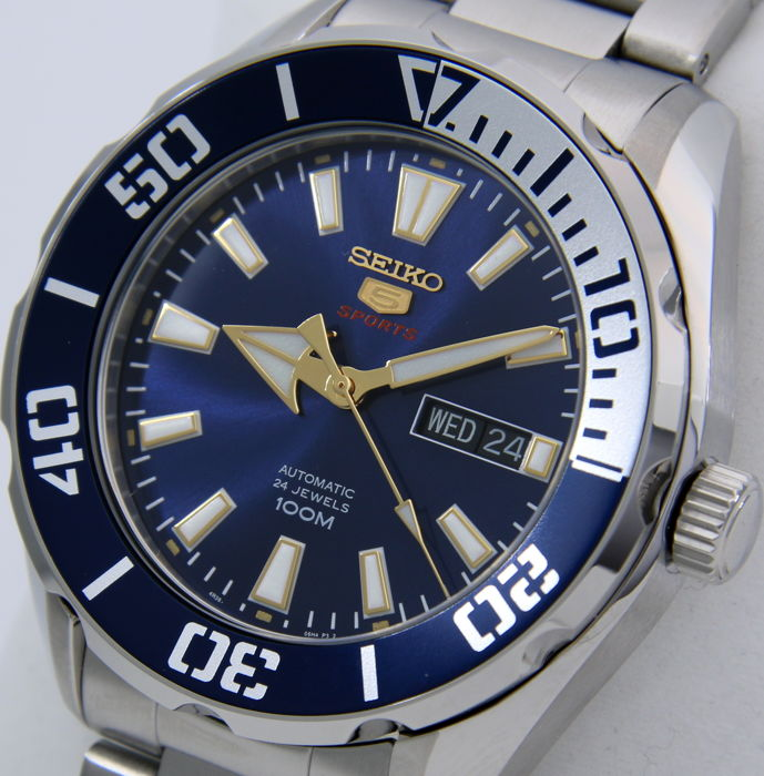 "Seiko - Automatic 24 Jewels ""Blue Tone"" - - ""NO RESERVE PRICE"" - - Men - 2018"