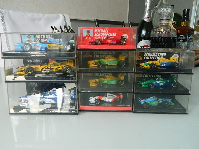 MiniChamps - 1/64 - 1/43 - Lot with 10 F1 models: Arrow, Benetton, McLaren, Ferrari & Jordan