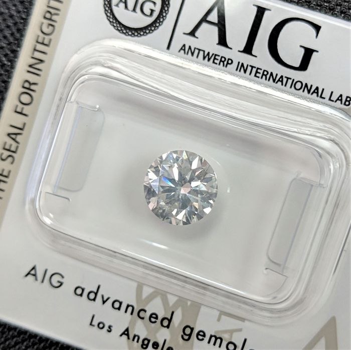 Diamant - 1.53 ct - Brillant - F - SI2