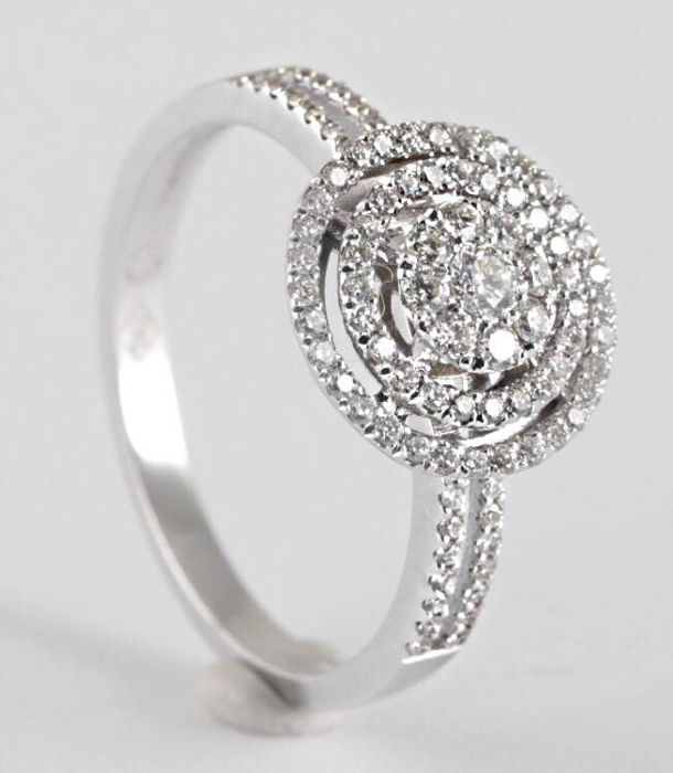 18 karaat Witgoud - Ring Diamant - Diamant