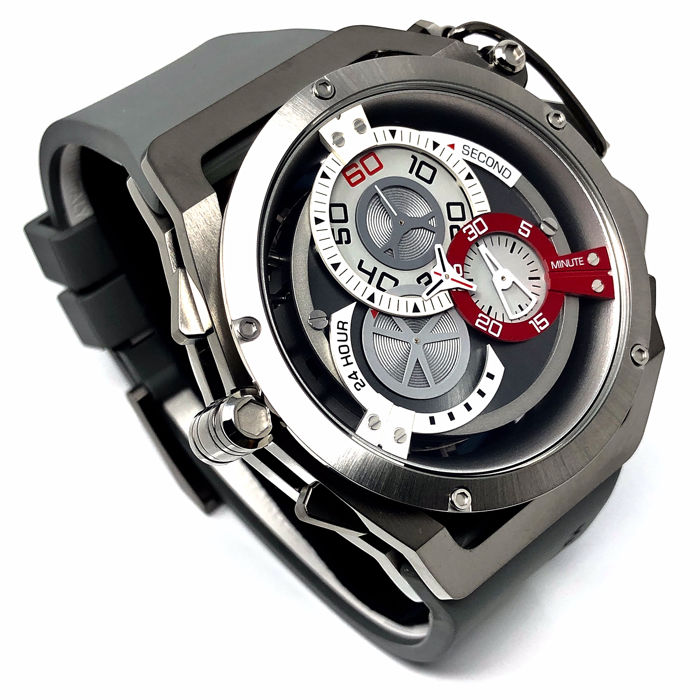 """Mazzucato - RIM Reversible Automatic AND Chronograph Grey """"NO RESERVE PRICE"""" - 09-GYWH - Men - brand new"""