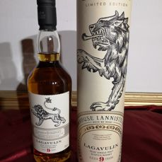 Lagavulin 9 years old limited edition game of thrones  house lannister - 0,7 l