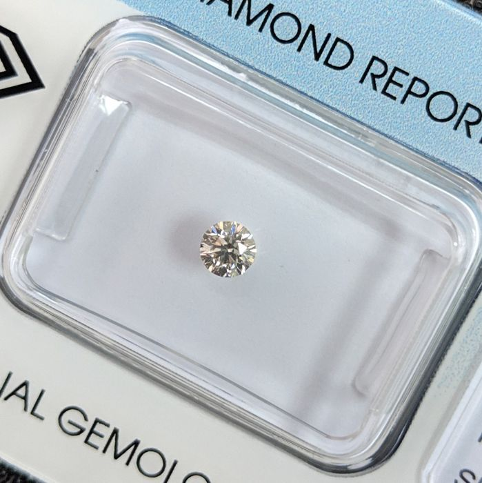 Diamant - 0.18 ct - Brillant - K - Blassgrau - IGI Antwerp - No Reserve Price, SI1