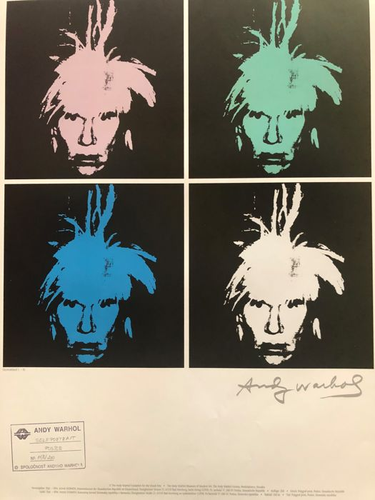 Andy Warhol (after)  - Selfportrait I.-IV.