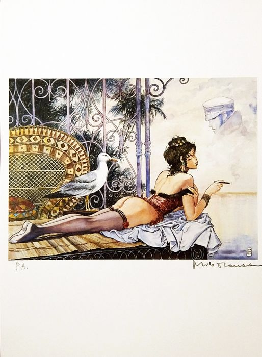 "Milo Manara - ""Desirables Esmeralda"" firmata - Loose page - First edition - (2017)"