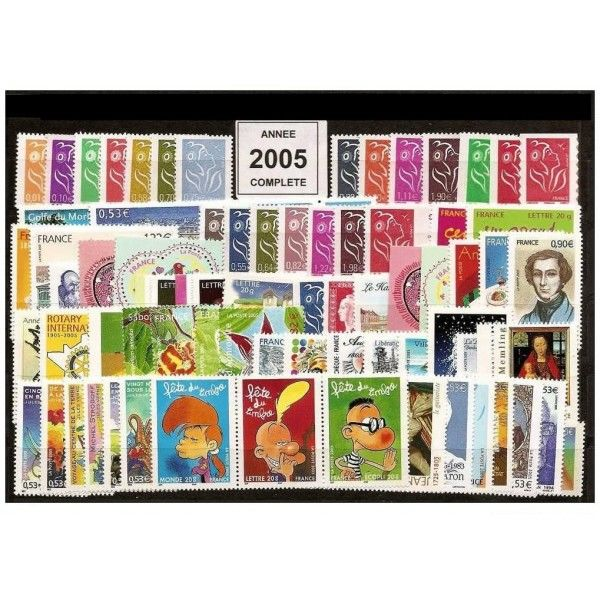 Frankrijk 2005 - Complete year of Yvert 3730 to 3860