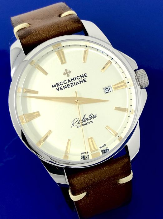 "Meccaniche Veneziane - Automatic Redentore Champagne with Gold Hands ""NO RESERVE PRICE"" - 1201006 - Men - BRAND NEW"