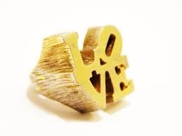 Robert Indiana & Charles Revson - Love Ring - gold plated