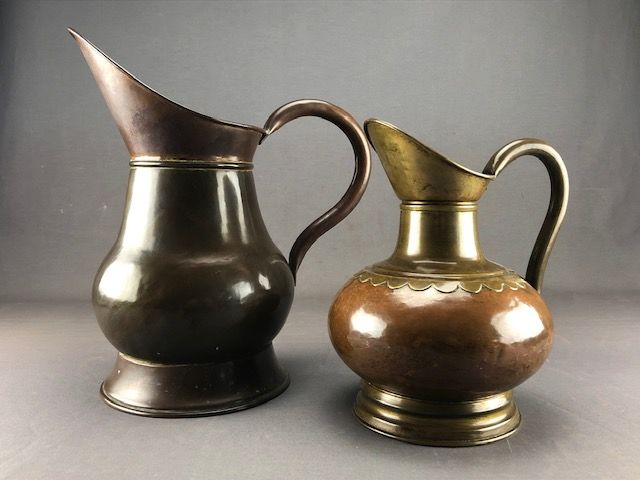 E. Houbion - Shaving jars (2) - Copper