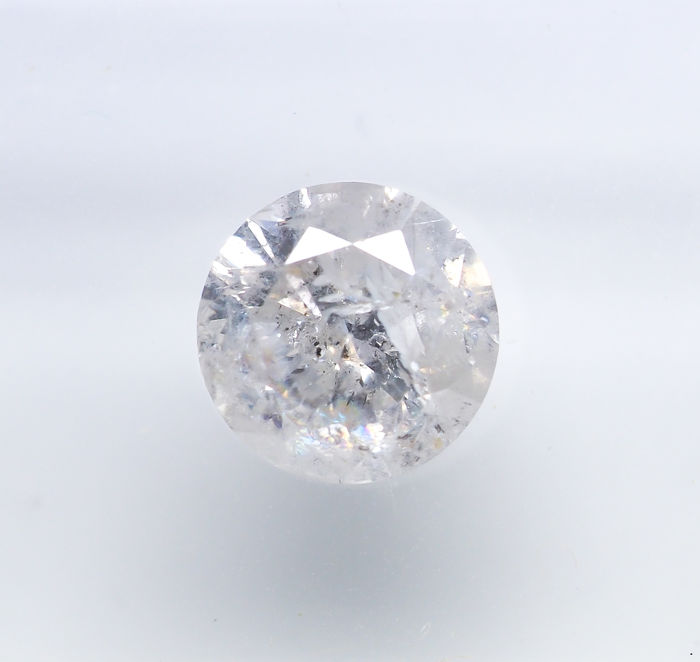 Diamond - 1.03 ct - Natural White - G color - I3 *NO RESERVE*