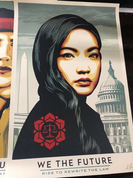 Shepard Fairey (OBEY) - We The Future - Rise to Rewirte the Law