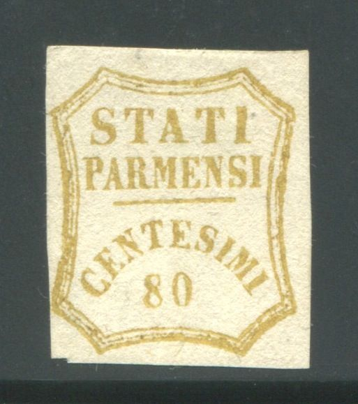 Parma 1859 - 80 cents bistre olive Provisional Government - Sassone N. 18