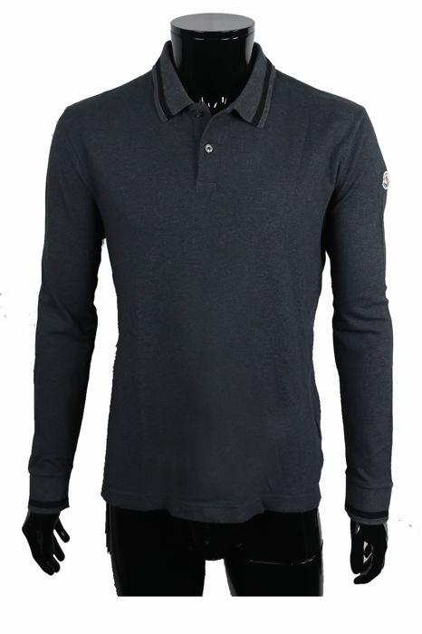Moncler - Logo Patch Polo Sweater - Maat: IT52 Maat XL