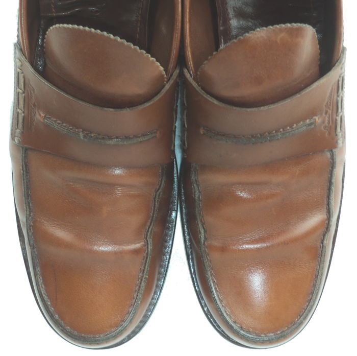 52cfc6af6ab Louis Vuitton - Cognac Leather Slip On Derby Penny Loafers - Catawiki