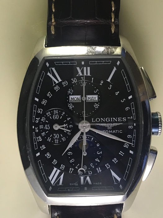 Longines - Evidenza Chronograph with Moon Phases - Cal.L678.2 - Heren - 2000-2010