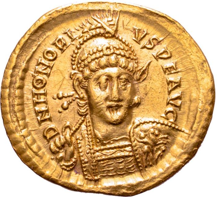 Empire romain - Solidus - Honorius (393-423 A.D). Constantinople, 403-408 A.D. CONCORDIA AVGG. CONOB - Or
