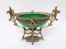 Gilt Bronze with Glass Coupe - Centerpiece - Bronze, Glass - 19th century