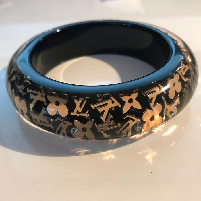Louis Vuitton - Inclusion Black and gold Bangle  Armband