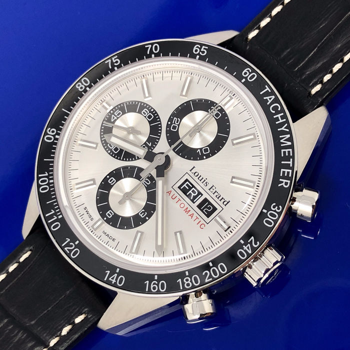 Louis Erard - Automatic Chronograph Sportive Silver - 78109AA31.BDC152 - Herren - brand new