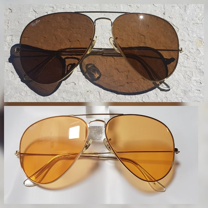 26d96a11f1 Bausch and Lomb Ray Ban USA - Aviator Ambermatic - All Weather Sunglasses  Sunglasses