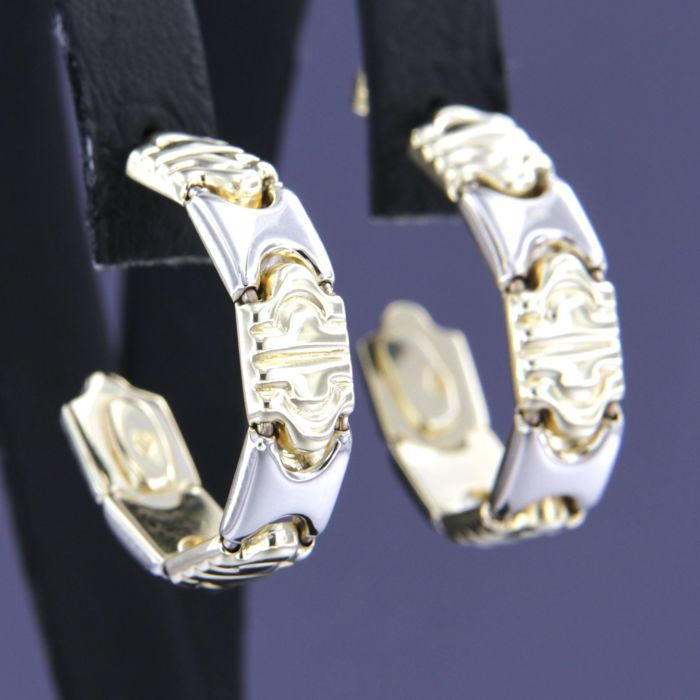 14 kt. White gold, Yellow gold - Earrings