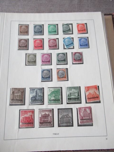 Luxemburg - Advanced stamp collection