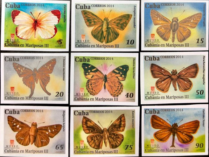 Cuba 2018/2010 - 257 topical imperforated stamps fauna,flora,railway