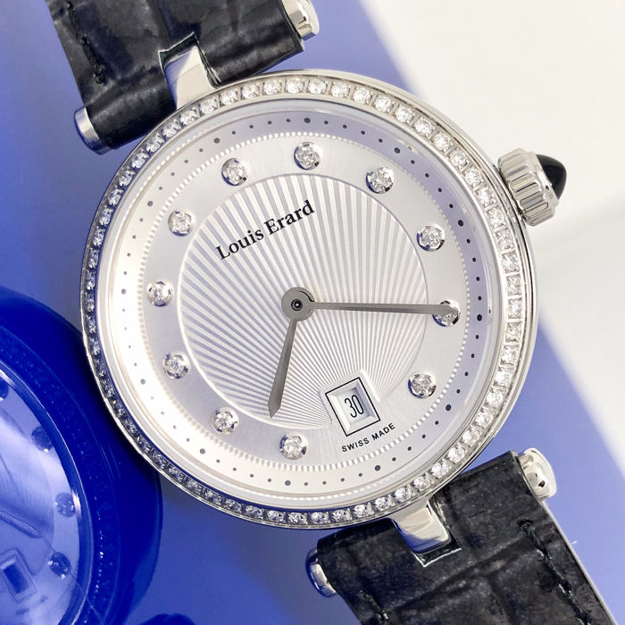 "Louis Erard - Diamond Romance Collection Silver ""NO RESERVE PRICE"" - 10800SE11.BDCA7 - Dames - BRAND NEW"